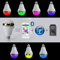 20pcs/lot New Arrival Multi Functional Bulbs Smart E26/E27 Bulb RC Colorful LED Bluetooth 3.0 Speaker Lights LED Bulb