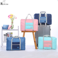 купить New Folding Clothing Storage Bags Unisex Luggage Organizer Travel Bag Large Capacity Duffle Bag Girl Waterproof Travel Handbags дешево