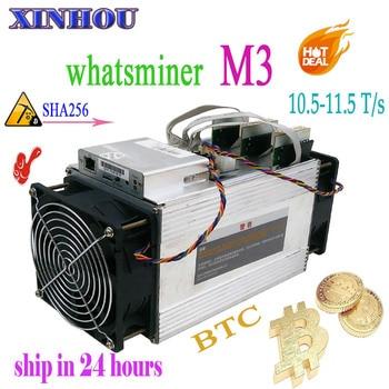 Używane Asic BTC BCC BCH górnik WhatsMiner M3 10.5-11.5 t/s SHA256 koparka bitcoinów lepiej niż M10 M3X antminer s9 T17 S11 S17 T3 E10