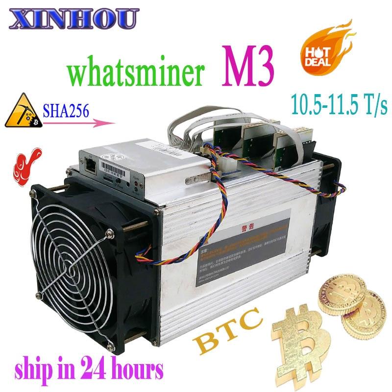 Utilizzato Asic BTC BCC BCH Minatore WhatsMiner M3 10.5-11.5 T/s SHA256 Bitcoin minatore meglio di M10 M3X antminer s9 T17 S11 S17 T3 E10