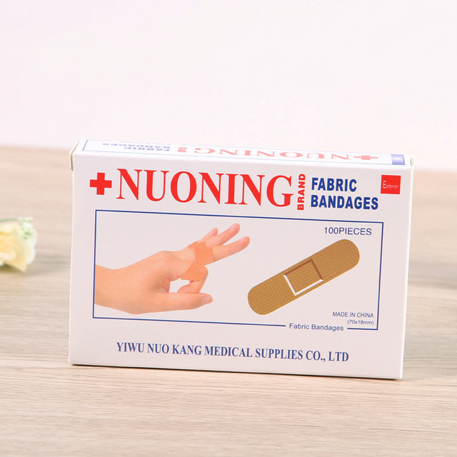 100PCS/Box New 2019 Band Aid Wound Dressings Sterile Hemostasis Stickers First Aid Bandage Heel Cushion Adhesive Plaster 2