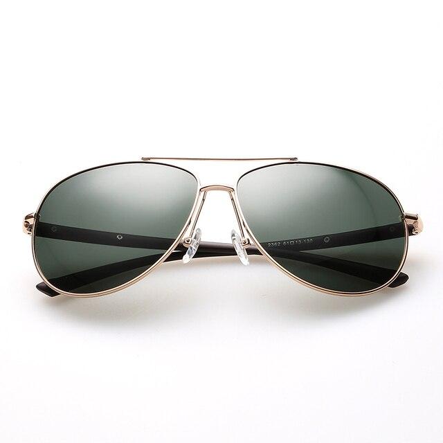 Новый Нержавеющей Стали Очки Кадр Поляризованный UV400 Солнцезащитные Очки 2016 Высокое Качество Мужчины Авиации Бренд Дизайнер Солнцезащитные очки Óculos