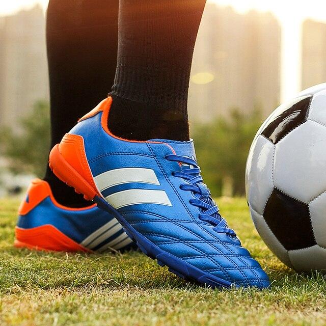 Homem Futzalki Interior Chuteiras de futebol Sapatos para Meninos Crianças Sapatos  Botas De Futebol para O d9e930028a46c