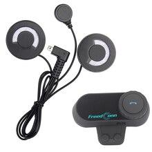 FreedConn רך אוזניות! FM רדיו + אופנוע קסדת Bluetooth אוזניות אינטרקום 100M עמיד למים BT האינטרפון סטריאו מוסיקה