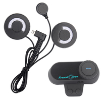 FreedConn soft earphone!FM Radio+Motorcycle Helmet Bluetooth Headset Intercom 100M Waterproof BT Interphone Stereo music