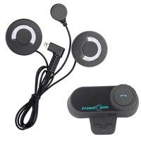FreedConn soft earphone!FM Radio+Motorcycle Helmet Bluetooth Headset Intercom 100M Waterproof BT Interphone Stereo music