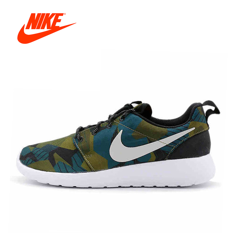Original New Arrival Authentic NIKE Spring ROSHE ONE PRINT Men's Printed Running Shoes Sneakers brand new original authentic brs15b
