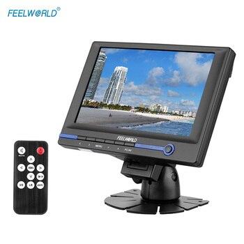 """FEELWORLD FW639AH 7 """"TFT LCD HD монитор для видео DSLR камеры с HDMI VGA AV входом с автомобильным адаптером пульт дистанционного управления солнцезащитный козырек"""