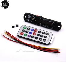 1pcs MP3 WMA Decoder Board Wireless Bluetooth Audio Module USB TF Radio 12V for car Build in Speaker hot sale(China)