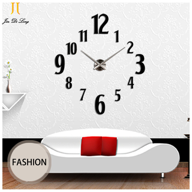 New Arrival Large Wall Clocks Modern Style Watch Acrylic Diy Clock Home Decor