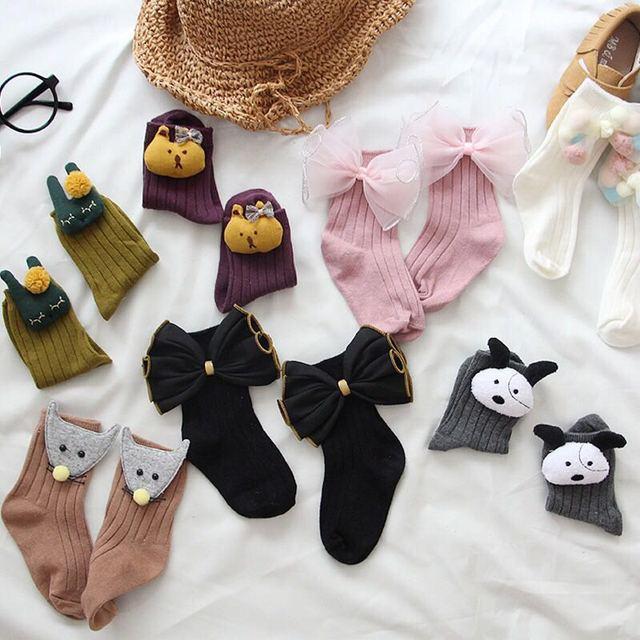 2018 детские носки, хлопковые осенне-зимние носки ручной работы с мультяшными куклами, мужские и женские хлопковые носки