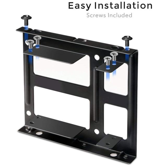 hot-2X 2.5 inch SSD to 3.5 inch Internal Hard Disk Drive Mounting Kit Bracket (SATA Data Cables and Power Cables Included) 1