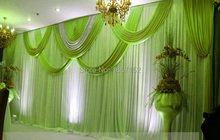 Green 10ft*20ft wedding Backdrop Stage Backdrop with Detachable Swag Sequins Stage Backdrop for Wedding Decoration