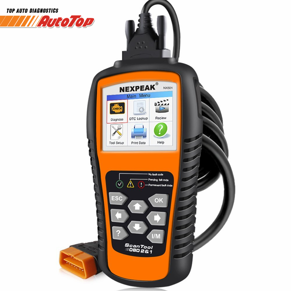 OBD2 Auto Diagnostic Scanner NEKPEAK NX501 Universal OBD 2 Code Reader Scanner Car Diagnostic Tool in Russian Better KW850 NT301 xtool ps201 obd2 scanner car diagnostic tool for heavy duty trucks bus