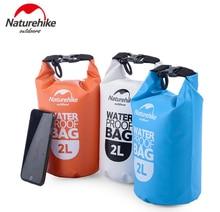 NatureHike 2L 5L High Quality Outdoor Waterproof Bags Ultralight Camping Hiking Dry Organizers Drifting Kayaking Swimming