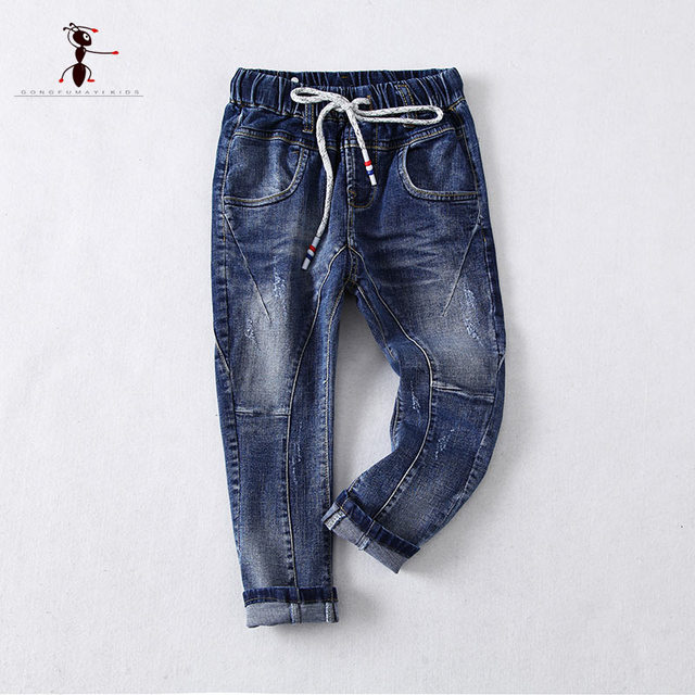 KungFu Ant 2017 New Arrival Casual Pocket Boys Children Jeans Denim Pant Trousers for Kid  172730
