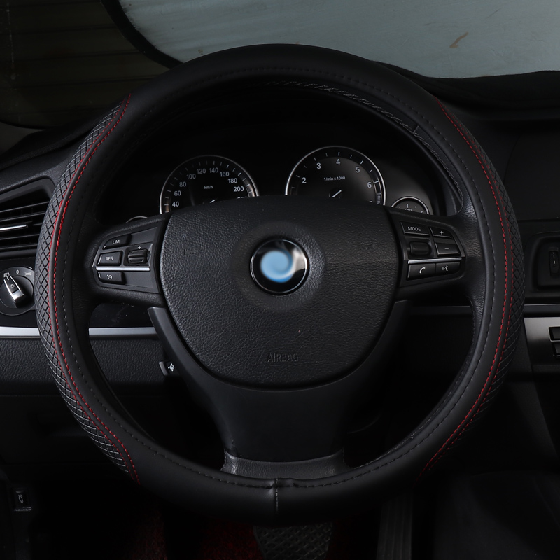 car steering wheel cover non slip genuine leather accessories for Toyota camry 40 50 2012 celica