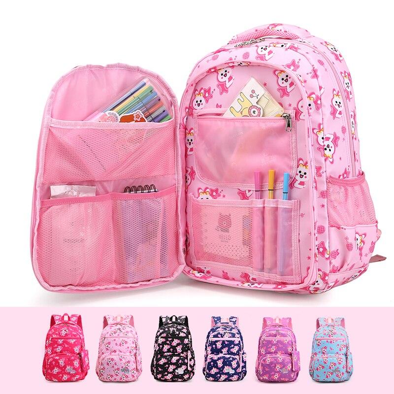 Girl Student School Bags Children Bagpack Cute Elementary Schoolbags Cartoon Backpack For Primary School Girl Mochila Infantil