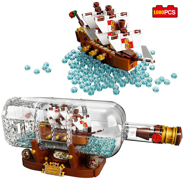 Creative Ideas Pirates Of The Caribbean Ship In A Bottle Building