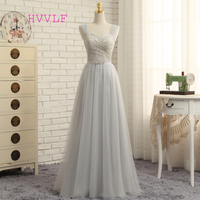 Dressgirl 2016 Cheap Bridesmaid Dresses Under 50 A Line Sweetheart Tulle Lace Silver Long Wedding Party