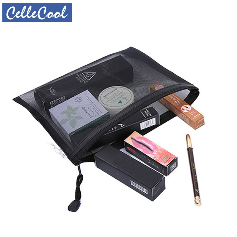 Transparent Zipper Make Up Casual Travel Cosmetic Bag Women Makeup Case Organizer Storage Pouch Toiletry Beauty Wash Kit Bags