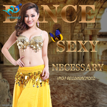 Belly Dancer Costume Suit Indian Dance Performance Hollaween Outfits Chiffon 2pcs Bra Skirt Set Free Shipping