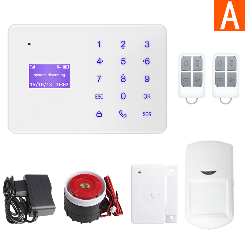 Marlboze A2 French Hungari Voice Wireless Wired Home Security GSM Alarm System LCD Display Touch Key APP Control