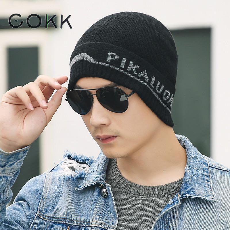 COKK 2017 New Winter Hat Men Beanie Knitted Cap Bonnet Skullies Beanies For Men Warm Wool Hats Women Casual Caps Bone Male Gorro knitted skullies cap the new winter all match thickened wool hat knitted cap children cap mz081