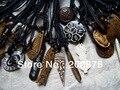 MW-01 Mejor Precio Al Por Mayor Tibetana Yak Hueso tallado Totem Amuleto Colgante de Collar, Collar de Tíbet Hombre Charms Cuerda de la Cera, mezclar