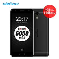 Ulefone Power 2 4G Smartphone 6050mAh 5 5 FHD 1920x1080 Android 7 0 4G 64GB MTK6750T