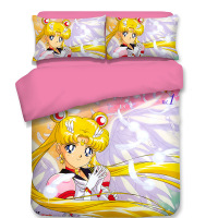 Sailor Moon Anime bedding set Duvet Covers Pillowcases Cartoon Sailor Moon comforter bedding sets bedclothes bed linen bed set