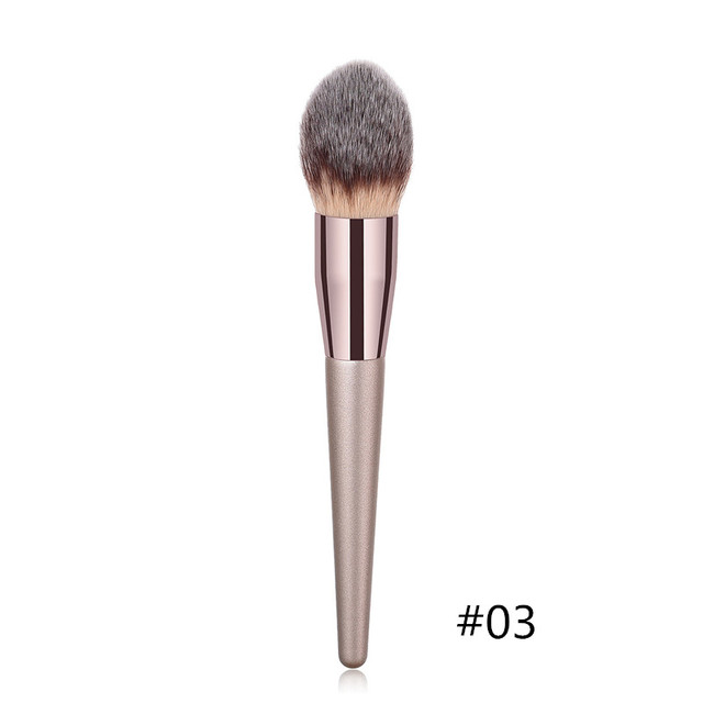 1PC Foundation Makeup Brush Coffee Handle Professional Facial Powder Eyeshadow Blush Eyebrow Lip Brush Large Soft Cosmetic Brush 3