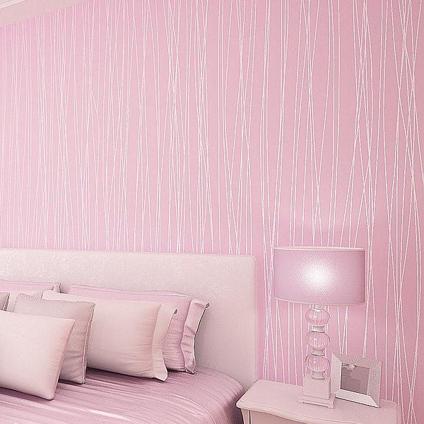 Online Shop Simple Textured modern striped wallpaper roll living ...