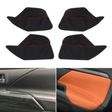 4 шт. стайлинга автомобилей интерьера из микрофибры двери панель подлокотник крышка защитная накладка для Mitsubishi Outlander 2016 2017 2018