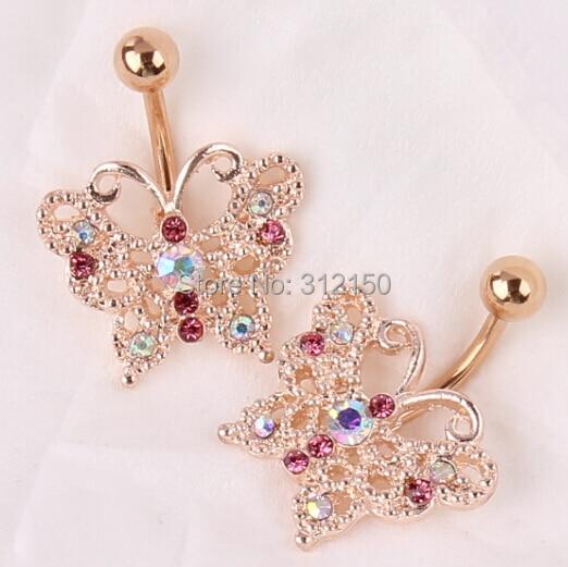 Бесплатна достава Златни лептир - Модни накит