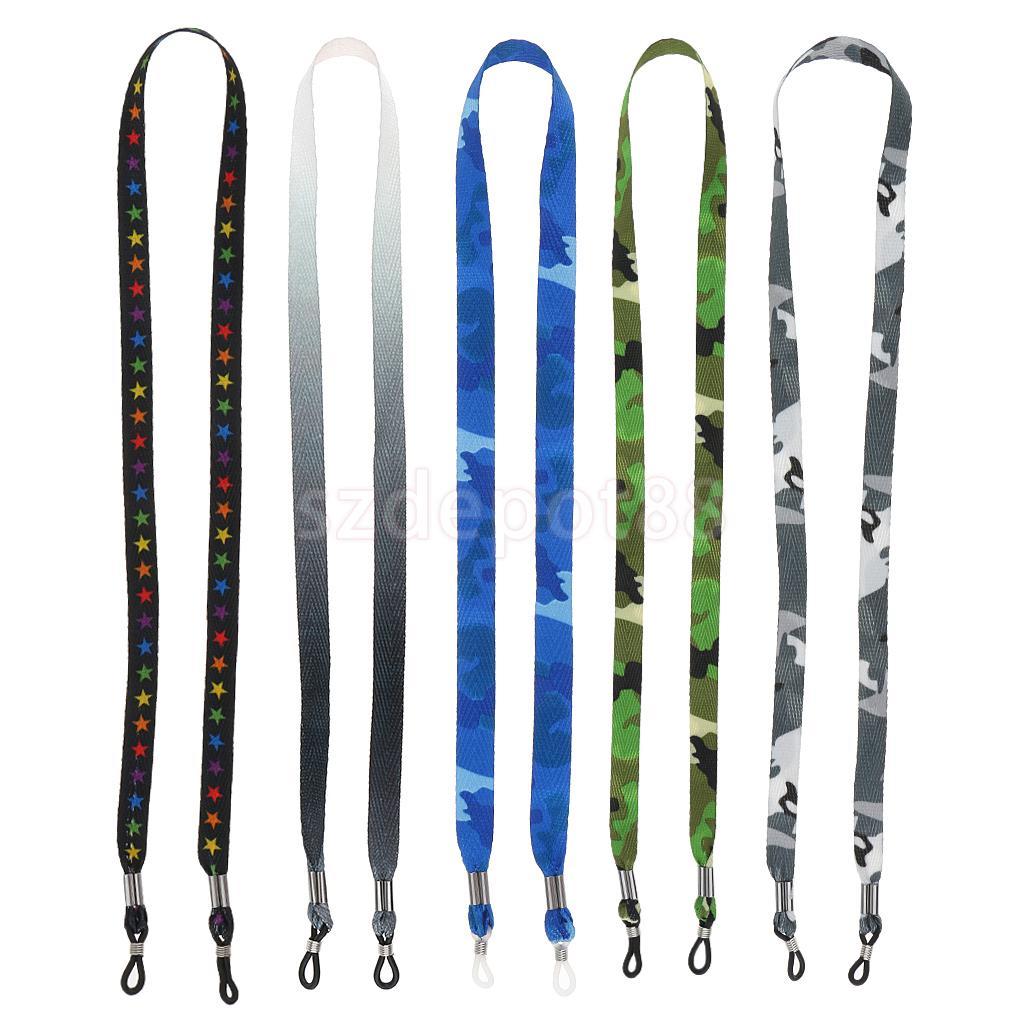 5 Pieces Camouflage Sunglasses Lanyard Strap Men Women Eye Glasses Cord Holder 60cm
