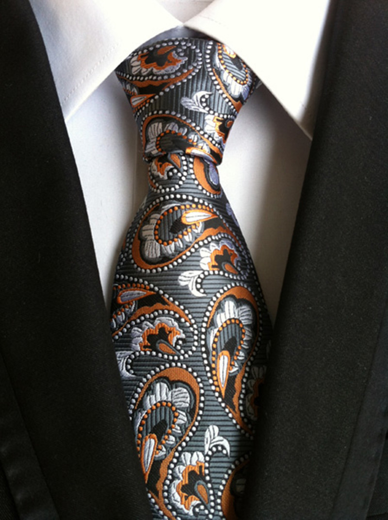 New Mens Black Red Blue Paisley Floral Plaid Necktie JACQUARD WOVEN Silk Tie