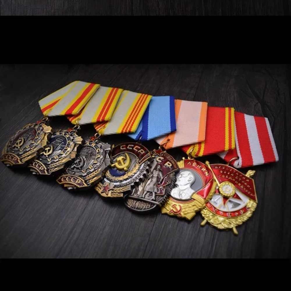 Qualidade superior cccp medalha da segunda guerra mundial lenin bandeira vermelha vênus estrela vermelha herói urss união soviética medalha de glória do trabalho honra linha oriental