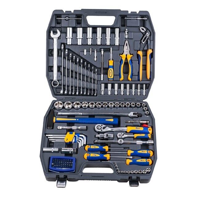 Набор ручного инструмента KRAFT КТ 700679 (120 предметов, торцевые головки, отвертки, удлинители, торцевые головки, кейс)