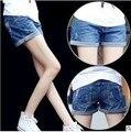 2017 Сыпучих женская Мода джинсы Лето Feminino Джинсовые Шорты Slim Корейской Вскользь Джинсы женские Шорты Плюс Размер 2XL