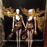 Секрет Catwalk Костюмы китайский дракон феникс Костюмы для бальных танцев костюм сценическое праздничное маскарадное платье