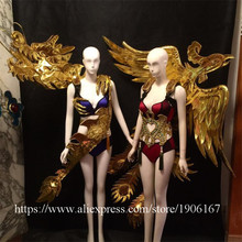 Secret Model Catwalk Clothing Chinese Dragon Phoenix Ballroom Costume Stage Performance Masquerade Party Dress