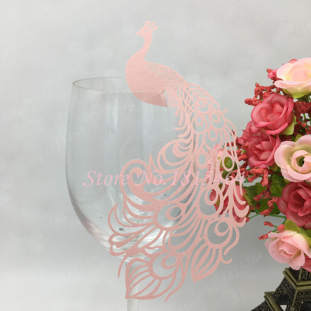 50pcs laser cut hollow out paper peacock wedding decorations place 50pcs laser cut hollow out paper peacock wedding decorations place name cards elegant wine glass cards party supplies in cards invitations from home floridaeventfo Gallery