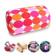 12 Color Office Travel Micro Mini Microbead Back Cushion Roll Throw Pillow Home Sleep Neck Support Comfortable Pillows