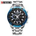 Bosck relógio preto dos homens de luxo da marca casuais relógios de negócios de moda masculina de quartzo esportes relógio de aço inoxidável à prova d' água 8023