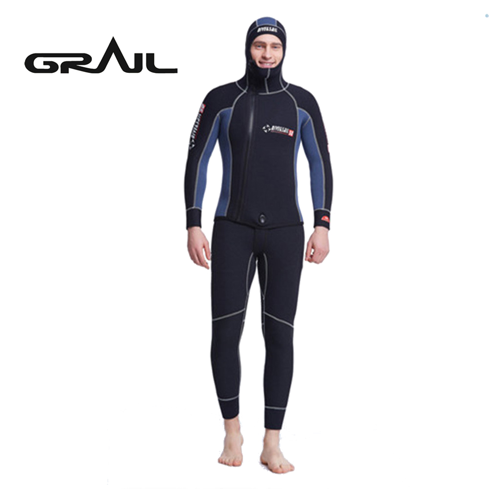Men 5MM Neoprene Suit Man Surfing Wetsuit Scuba Rash Guards High Quality Diving Equipment Full Body With Hood WDS-4133