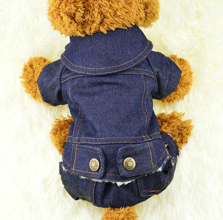 Thick Winter Pet Jeans Clothes Dog Coat Jumpsuit Overalls For Small and Large Dogs High Quality Dog Jeans Apparel Factory Outlet11