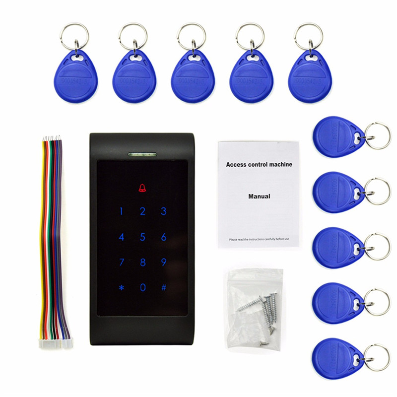 New Arrival RFID Entry Door Lock Access Control System Password Keypad + 10 Pcs  ID Card Keyfobs Reader rfid entry door lock access control system password keypad 10 pcs id card keyfobs reader new arrival