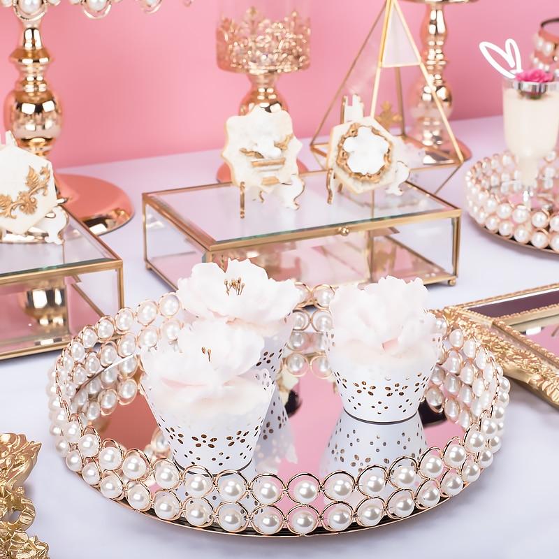 Nordic Metal Wedding Storage Plate Desktop Scandinavia Jewelry Luxurious Iron Cake Fruit Storage Tray Organizer Decor
