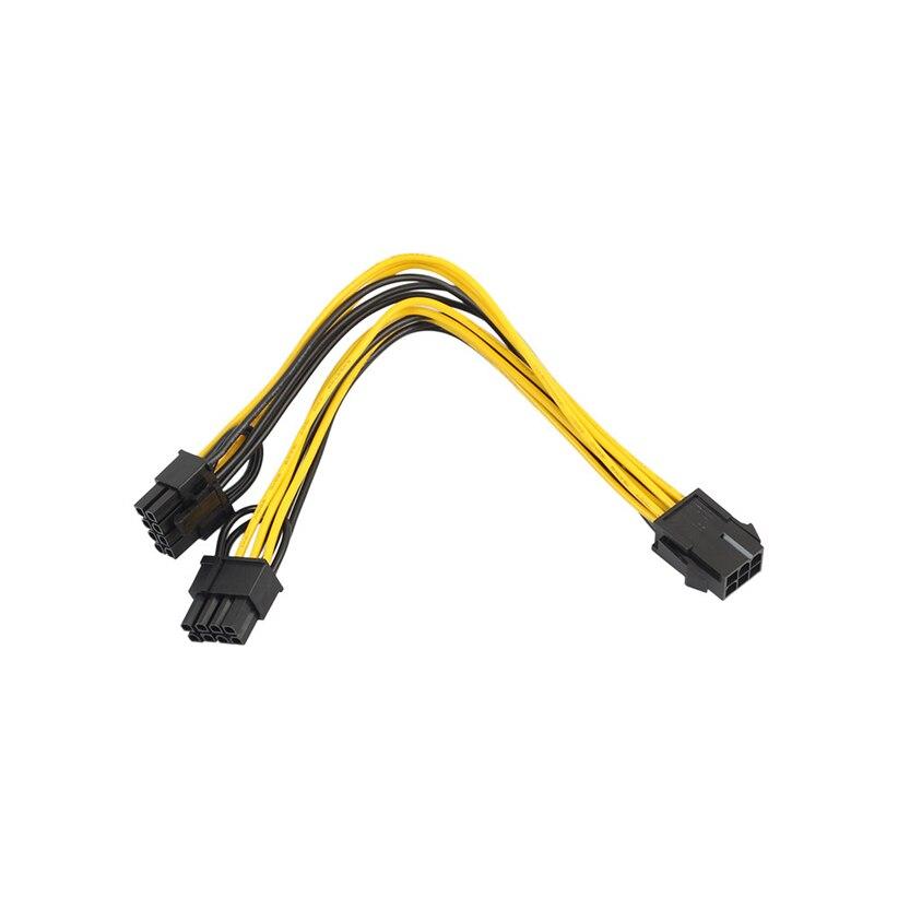 PCI-E 6-pin para 2x6 + 2-pin (6-pin/8-pin) cabo de alimentação Divisor PCIE PCI Express Futural J10T Digital Transporte da gota